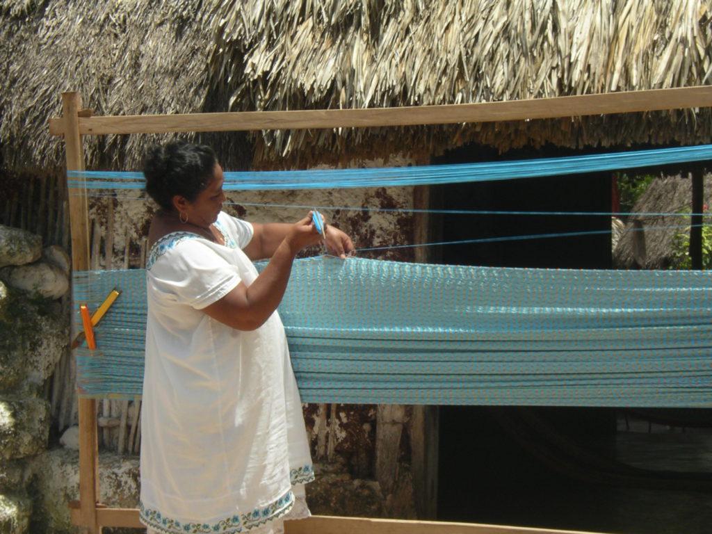 Mexicaanse hangmat weven